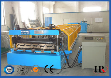 China PLC Control Sheet Roll Forming Machine , Wall Panels Roll Forming Line distributor