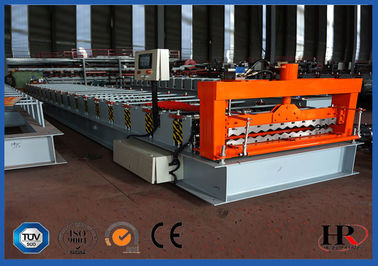 China Automatic Corrugated Roof Roll Forming Machine , Roof Sheet Making Machine distributor