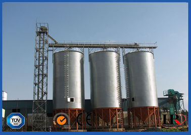Corrugated Hot-Dip Galvanized Steel Grain Silo With Temperature Moisture Inspection Sensor