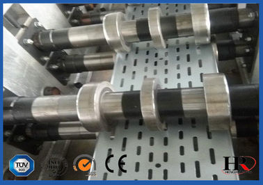 China Galvanized steel Heavy Duty Cable Tray Roll Forming Machine High speed 10-18m/min distributor