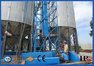 1112m3 Corrugated Steel Grain Silo Equipment With Temperature Moisture Inspection Sensor