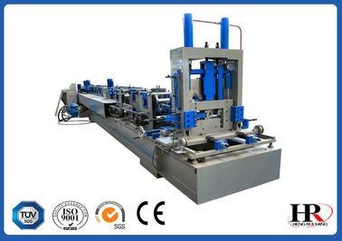 China Fast  Changeable CZ Purlin Roll Forming Steel Frame and Purlin making machine distributor