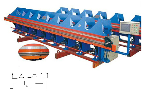4m Length Roof Flashing Gutter Making Machine With Gearing Rigging