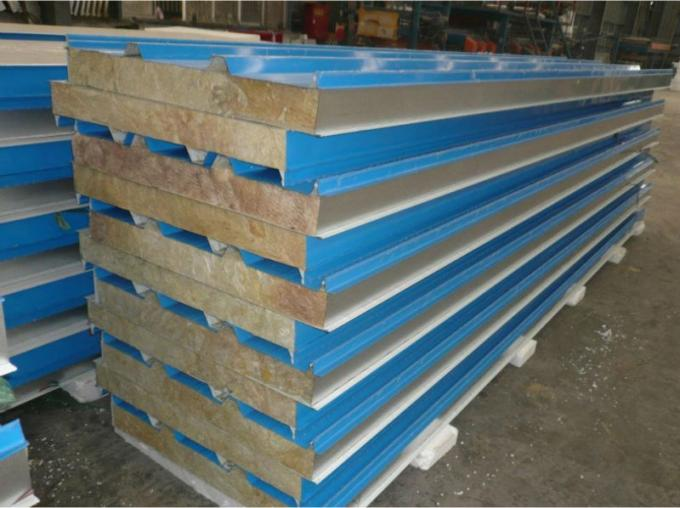 Blue Corrugated EPS Sandwich Panel Production Line Water Resistant