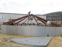 PLC Control Steel Silo Roof pre-punching Silo Roofing making machine