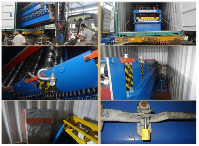 EPS / ROCKWOOL Sandwich Panel Making Machine Continuous Cold Roll Forming 50HZ