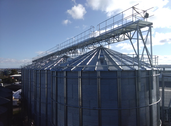 Alibaba China 2000tons grain storage silo corn maize steel silo price for sale