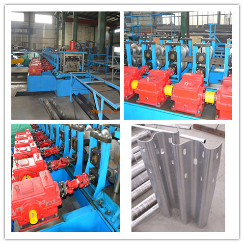 Heavy Duty Tri Beam And W Beam Guardrail Roll Forming Machine With High Speed 1
