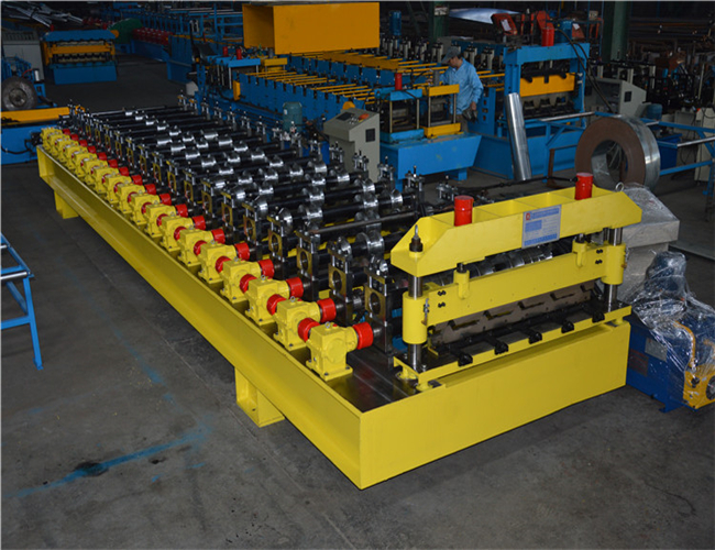 Automatic Roll Forming Roof Panel Roll Forming Machine , roof panel making machine 2