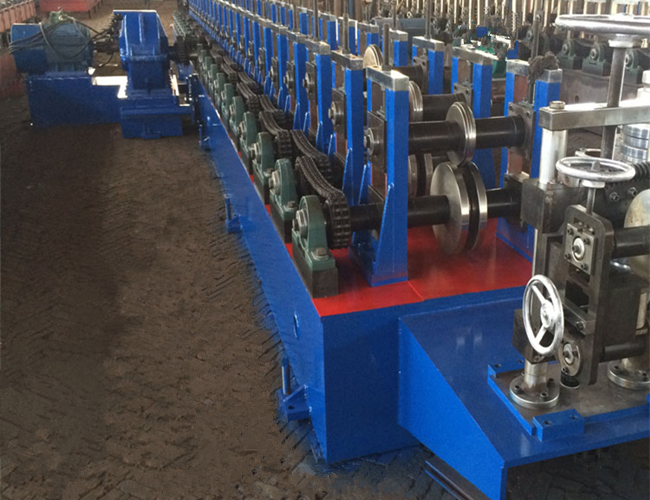 Shelving Rack Pallet Rack Step Beam Roll Forming Machine , Cold Roll Forming Equipment 3