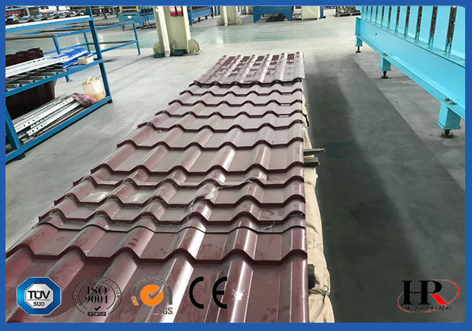 High Speed Automatic Roll Forming Equipment Precision For Glazed Tile Making