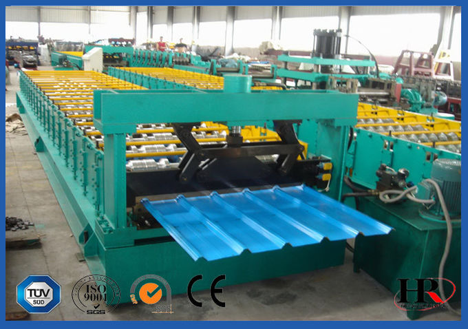 Colored Steel Self-locked Roofing Tile Machine with 0.6m Width Coil