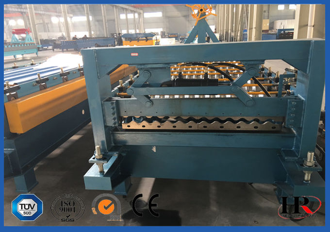 Safe Cold Roll Forming Machine Blue For Pre Cutting Metal Sheets