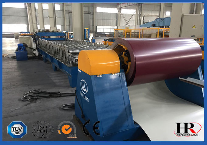 Small Corrugated Sheet Metal Roof  Roll Forming Machine / Roof Panel Making Machine