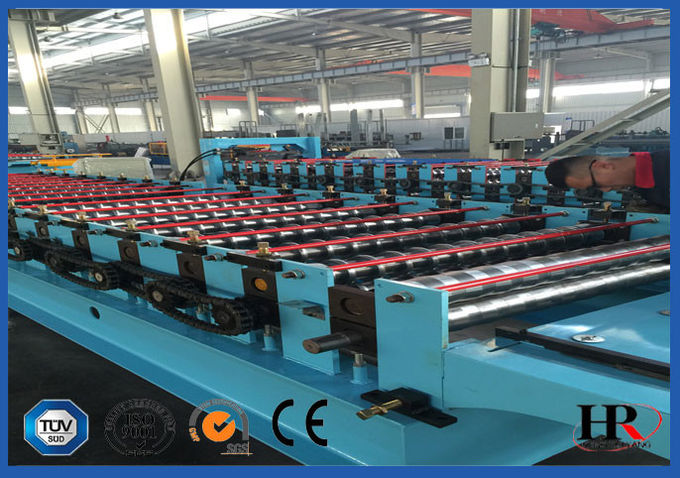 1.25m Width Wall Panel Roll Forming Machine With Manual Shearing Device