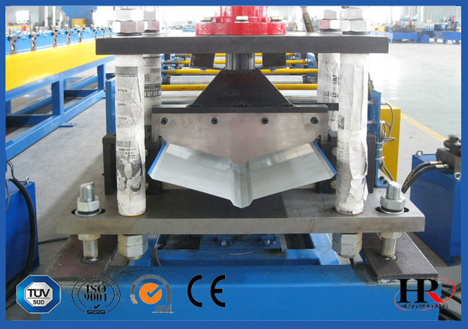 Galvanized Sheet Gutter Roll Forming Machine For Roof Cap , Metal Ridge
