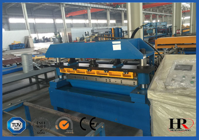 Pre-cutting Sheet Metal Cold Roll Forming Machine With Gear / Sprocket Driving