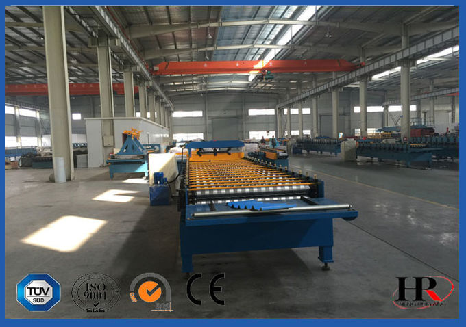 Customized Adjustable Roof  Roll Forming Machine Automatic PLC Control