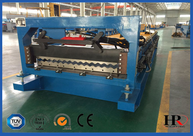 Roof  Tiles Series Cold Roll Forming Machine with Fixed Positon Driven Forming Stations
