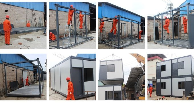 Prefabricated Container House Light Steel Villa Modular Homes Detachable EPS Panel