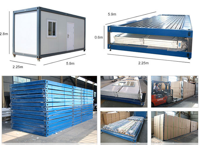 20ft Folding Prefab Mobile Container Light Steel Villa House Customized Easy Dismantling