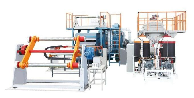 Continuous Rigid Polyfoam Sandwich Panel Production Line With Aluminum Foil Facings