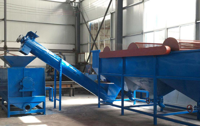 PE PP Film Waste Washing Plastic Recycling Machine Line 300-3000 Kg / H