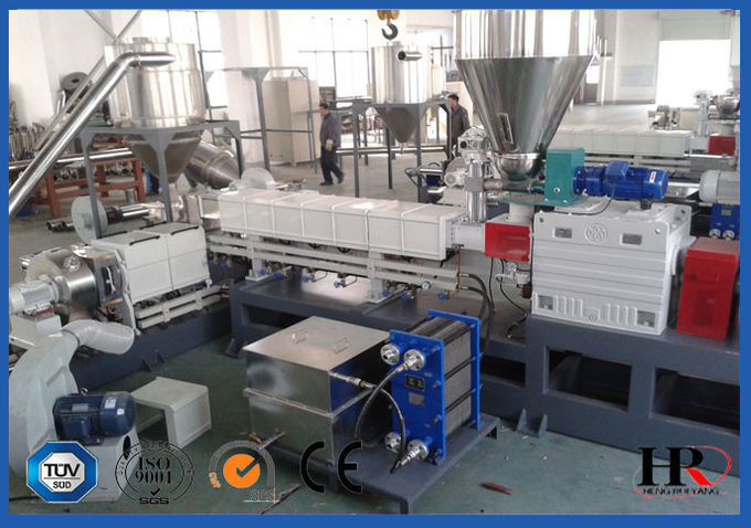 PP PE Film Plastic Recycling Machine , Pelletizing Recycling Granulator Machine Water Ring