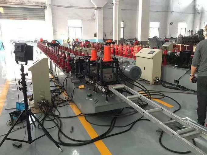 Full Automatic Steel Door Frame Roll Forming Machine With Hydraulic Cutting